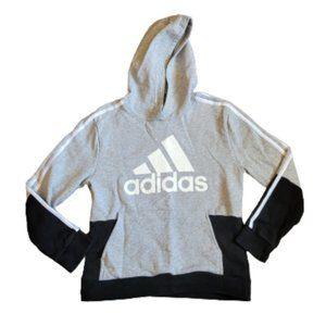 3/$40 Boys Adidas Gray/White/Black Hoodie Medium